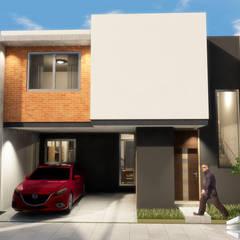 Casa tipo m2: Conjunto residencial de estilo  por Trignum Arquitectura