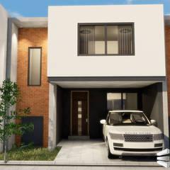 Casa tipo M5: Conjunto residencial de estilo  por Trignum Arquitectura