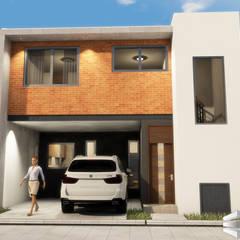 Casa m4: Conjunto residencial de estilo  por Trignum Arquitectura