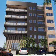 : Casas de madera de estilo  por Trignum Arquitectura, Moderno Madera Acabado en madera