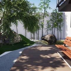Jardin ZEN: Jardines zen de estilo  por Trignum Arquitectura