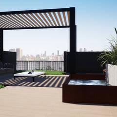 Roof Garden: Jardines zen de estilo  por Trignum Arquitectura