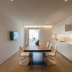 مطبخ ذو قطع مدمجة تنفيذ marco tassiello architetto