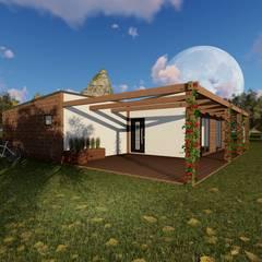 Casas de madera de estilo  por Discovercasa | Casas de Madeira & Modulares