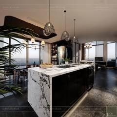 Thiết kế nội thất Penhouse Masteri Millenium - Phong cách hiện đại kết hợp Đông Dương:  Phòng ăn by ICON INTERIOR