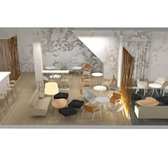 DISEÑO INTERIOR DE LOCAL: Casas de estilo  de Elephantone Design Studio