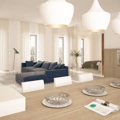Proyecto de diseño y constucción de tres exclusivas viviendas: Santa María 23: Comedores de estilo  de Andrea Font- Homify