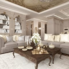 Stylowa aranżacja apartamentu: styl , w kategorii Salon zaprojektowany przez Intellio designers