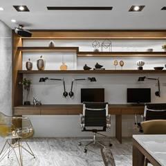 微醺:  書房/辦公室 by 京彩室內設計裝修工程公司