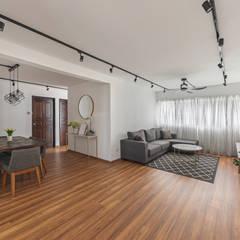 786 Yishun Ring Road: scandinavian Living room by VOILÀ Pte Ltd
