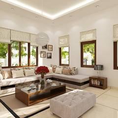 Nội thất mang phong cách cổ điển.:  Phòng khách by Công ty TNHH Thiết Kế Xây Dựng Song Phát