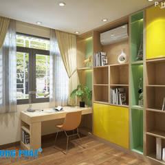 Chiêm ngưỡng thiết kế nội thất trẻ trung bên trong nhà phố 5 tầng:  Phòng học/Văn phòng by Công ty TNHH Thiết Kế Xây Dựng Song Phát