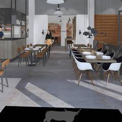 Verbouwing restaurant Cherry – Triple B:  Gastronomie door Sooph Interieurarchitectuur, Industrieel