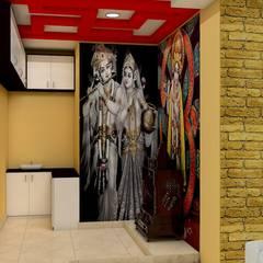Sare Homes:  Corridor & hallway by Saraswati Interior