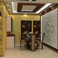 Sare Homes:  Dining room by Saraswati Interior
