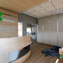 KEMENKES OFFICE: Ruang Kerja oleh IFAL arch, Minimalis Kayu Wood effect
