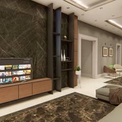 Sonraki Mimarlık Mühendislik İnş. San. ve Tic. Ltd. Şti. – A.A MALİKANESİ KUVEYT - KUWAIT MANSION HOUSE: modern tarz Multimedya Odası