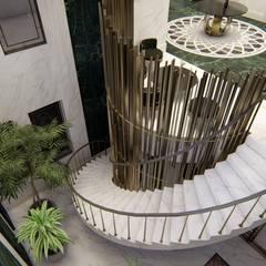 Sonraki Mimarlık Mühendislik İnş. San. ve Tic. Ltd. Şti. – A.A MALİKANESİ KUVEYT - KUWAIT MANSION HOUSE:  tarz Merdivenler
