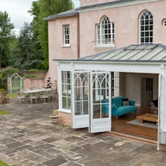 Orangery in Surrey Reflects the period details on the existing property.:  Conservatory by Vale Garden Houses