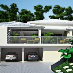 residencia: Casas pré-fabricadas  por Juliana Moreira Arquiteta