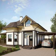 Projekty,  Dom rustykalny zaprojektowane przez villarte