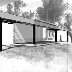 PORTICOS: Terrazas de estilo  por NIKOLAS BRICEÑO arquitecto