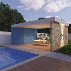 Casa Rejoyada 72: Albercas de estilo  por SRA arquitectos