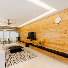 The Grove, Lakefield:  Living room by Studio BEVD