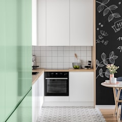 PROJEKT MIESZKANIA 58M2 NA BIAŁOŁĘCE: styl , w kategorii Kuchnia na wymiar zaprojektowany przez DESIGN MY DEER