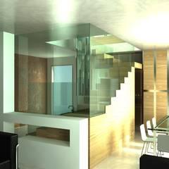 Renovatie kleine Penthouse van MEF Architect Modern Glas