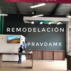 Proyecto commercial Retail, llave en mano: Oficinas y tiendas de estilo  por Pravdamx