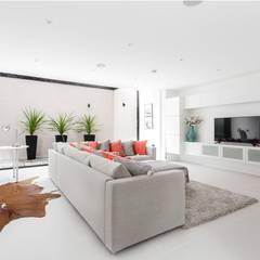 Darcies Mews: modern Media room by The Crawford Partnership