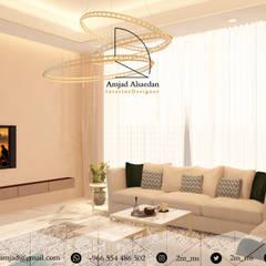 Private Villa:  غرفة المعيشة تنفيذ Amjad Alseaidan, حداثي
