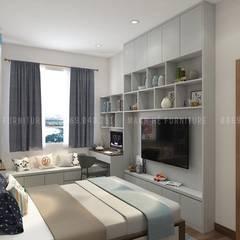 asian Living room by Công ty TNHH Nội Thất Mạnh Hệ