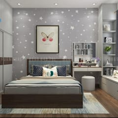 Thiết Kế Nội Thất Phòng Ngủ 2:  Phòng khách by Công ty TNHH Nội Thất Mạnh Hệ