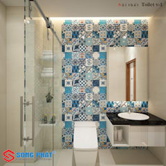 Bagno in stile  di Công ty thiết kế xây dựng Song Phát