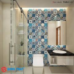 Bathroom by Công ty thiết kế xây dựng Song Phát