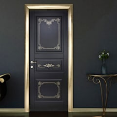 Front doors by كاسل للإستشارات الهندسية وأعمال الديكور في القاهرة, Country MDF