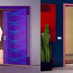 Puertas de madera de estilo  por كاسل للإستشارات الهندسية وأعمال الديكور في القاهرة, Rural Tablero DM