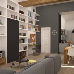 Living: Soggiorno in stile  di Michela Munns Design