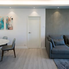 Beverly Hills Happy Valley Hong Kong Island :  Living room by Much Creative Communication Limited, Minimalist Concrete