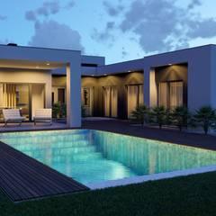 Habitação Unifamiliar - Casa 10 - Penteado, Setúbal: Casas  por JMarq. arquitetura & design