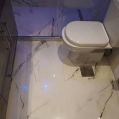 Reforma Banheiro: Banheiros minimalistas por Isma Gestão em Mão de Obra
