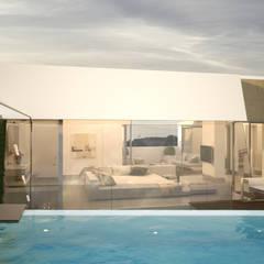 Diseño del proyecto de una vivienda moderna:  Santa María 23: Piscinas de jardín de estilo  de AVANTUM