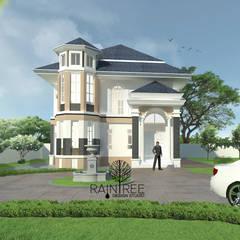 บ้านพักอาศัยสไตล์โคโลเนียล 2 ชั้น:  บ้านและที่อยู่อาศัย by raintree design studio