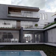 Vista desde la alberca : Casas de campo de estilo  por  Grupo Arquitectónico