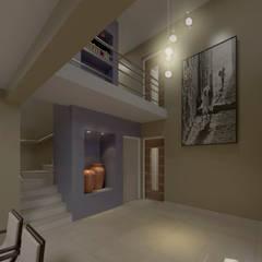 casa LILI-ADOLFO: Pasillos y recibidores de estilo  por MVQ ARQUITECTOS