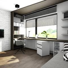 Pokój : styl , w kategorii Domowe biuro i gabinet zaprojektowany przez Offa Studio