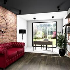 Gabinet: styl , w kategorii Domowe biuro i gabinet zaprojektowany przez Offa Studio