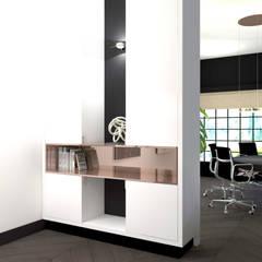 Ensuitekast:  Kantoor- & winkelruimten door VAN VEEN Interior Design